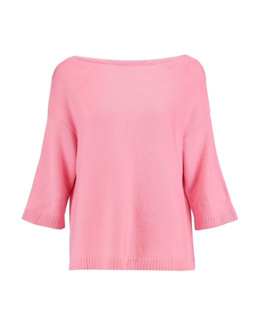 Valentino - Woman Cashmere Top Pink - Lyst