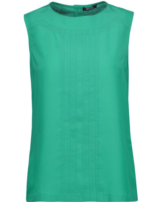 Raoul | Green Pintucked Crepe Top | Lyst