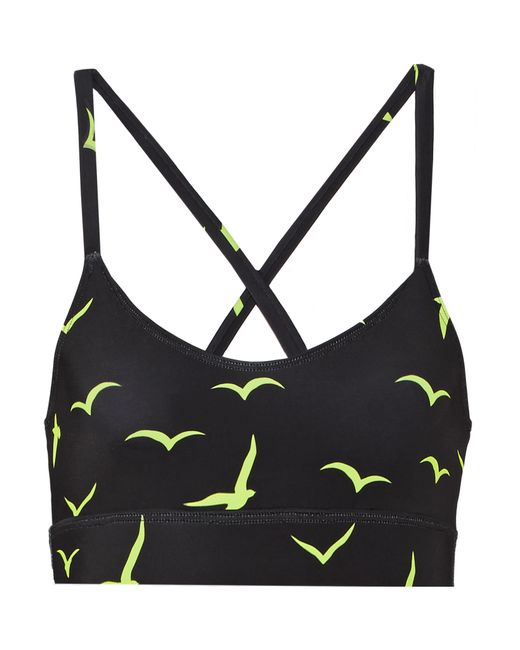 Mara Hoffman | Black Printed Stretch-jersey Sports Bra | Lyst