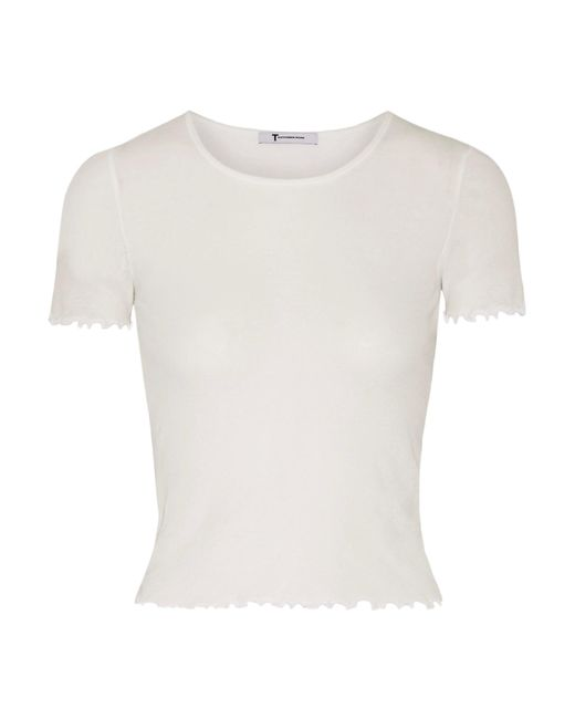T By Alexander Wang   White Cotton-jersey Top   Lyst