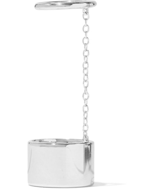 Elizabeth and James - Metallic Silver-tone Chain Ring - Lyst