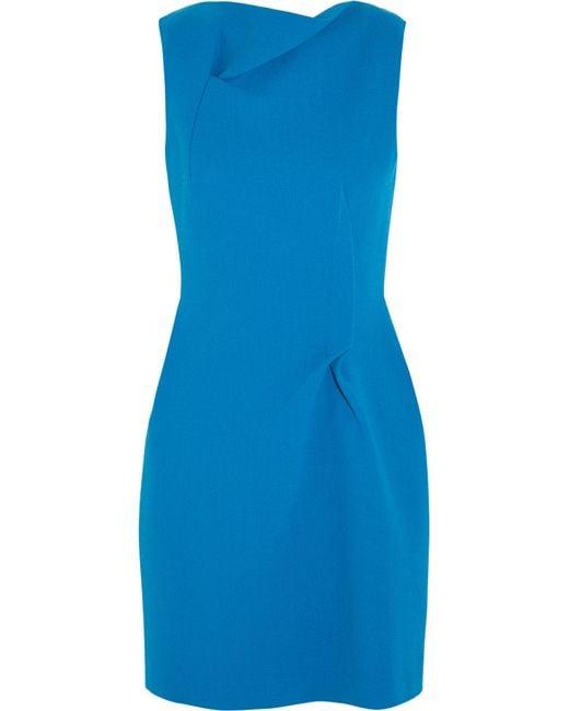 Roland Mouret | Blue Zonda Wool-crepe Mini Dress | Lyst