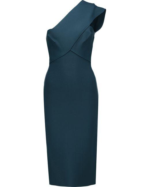 Roland Mouret | Blue Pearly One-shoulder Stretch-bandage Dress | Lyst