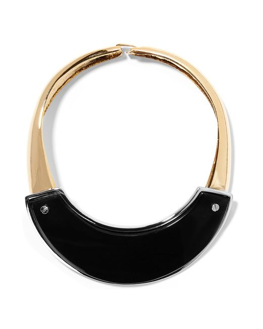 Marni | Black Gold And Silver-tone Horn Necklace | Lyst