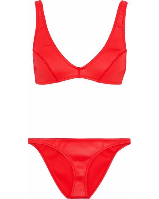 Melissa Odabash - Red Malibu Neoprene Bikini - Lyst