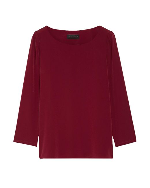 HATCH - Gathered Crepe De Chine Top - Lyst