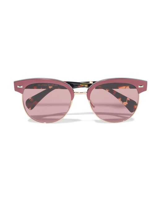 cd188749f1454 Oliver Peoples - Multicolor Woman D-frame Tortoiseshell Acetate And  Gold-tone Sunglasses Plum ...
