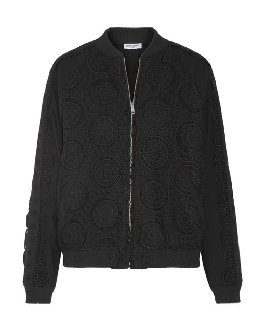 Opening Ceremony | Black Broderie Anglaise Cotton Bomber Jacket | Lyst