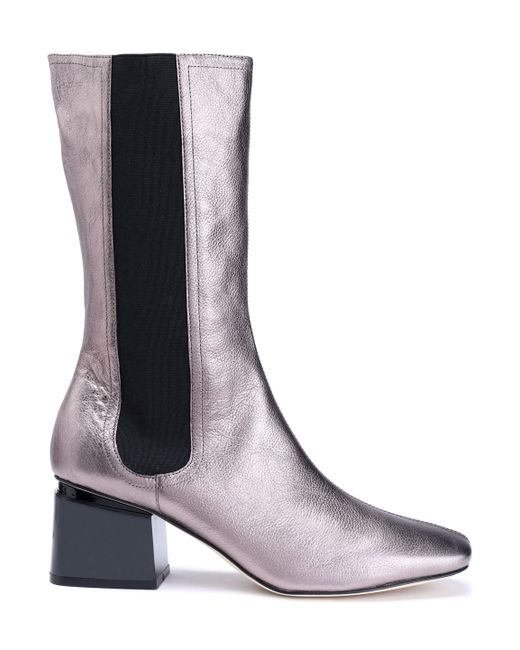 Sigerson Morrison - Eartha Metallic Leather Boots - Lyst