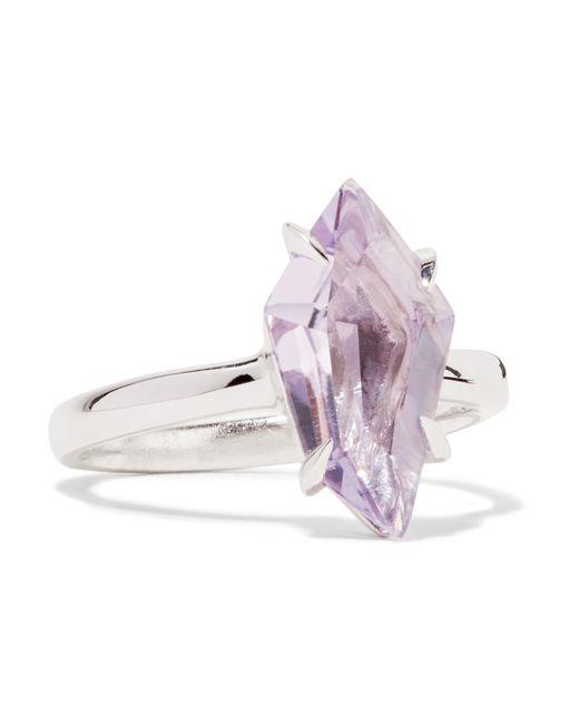 Alexis Bittar | Purple Silver-tone Crystal Ring | Lyst