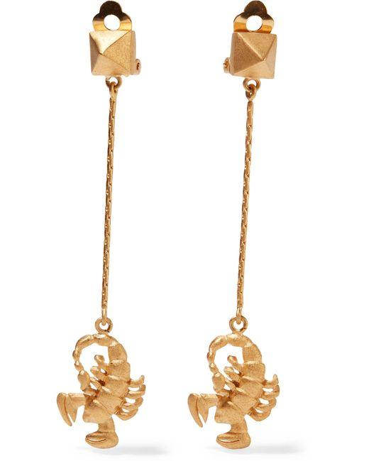 Valentino   Metallic Golden Scorpio Zodiac Earrings   Lyst