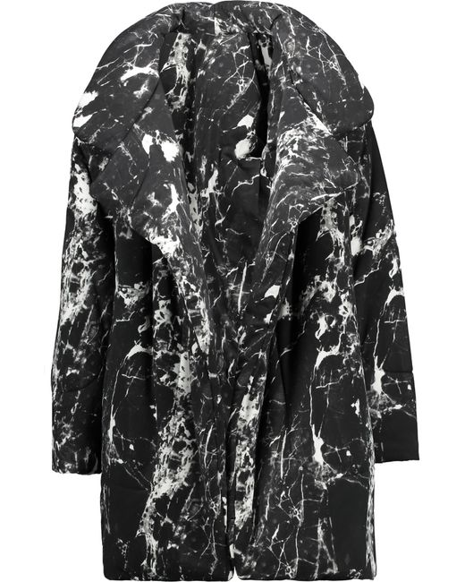 Norma Kamali | Black Reversible Printed Stretch-jersey Coat | Lyst