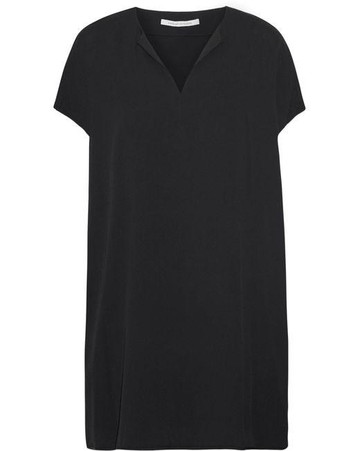 Diane von Furstenberg | Black Kora Silk-blend Mini Dress | Lyst