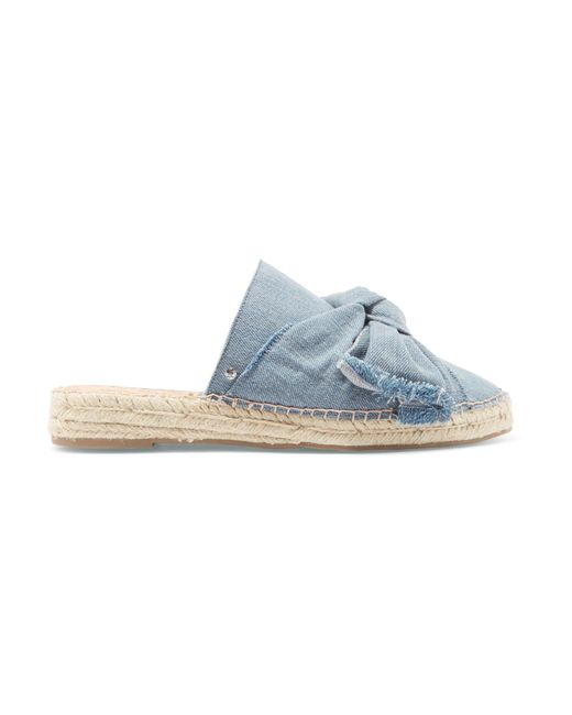 Sam Edelman | Blue Lynda Denim Espadrille Slippers | Lyst