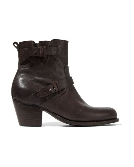 Rag & Bone | Brown Harper Leather Ankle Boots | Lyst
