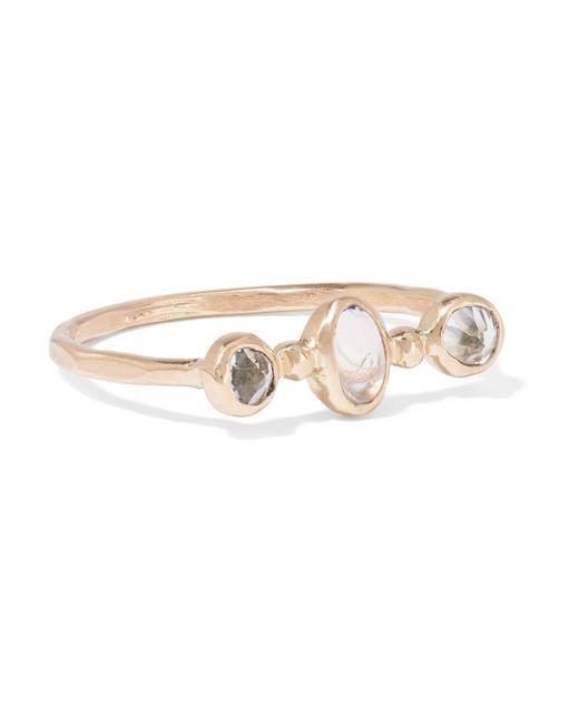 Melissa Joy Manning | Metallic 14-karat Gold, Topaz And Moonstone Ring | Lyst
