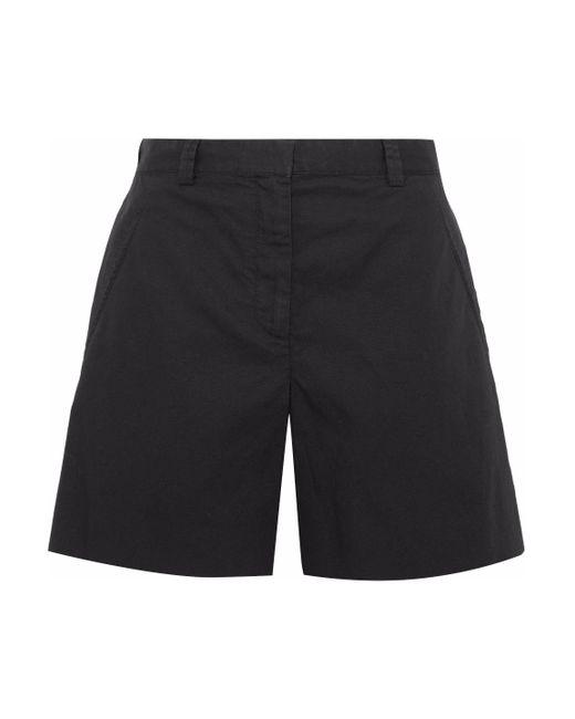 Maison Margiela - Black Cotton And Linen-blend Shorts - Lyst