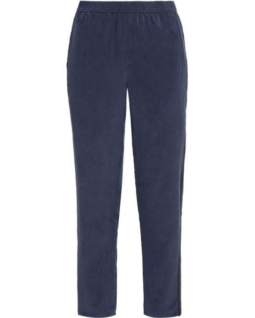 Joie - Blue Renay Silk Track Pants - Lyst