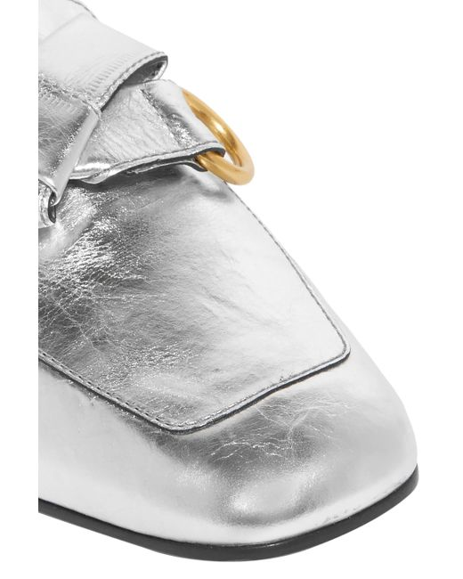 e625fa190f2 chloe-Silver-Chloe-Woman-Quincey-Collapsible-heel-Metallic-Leather-Loafers-Silver.jpeg