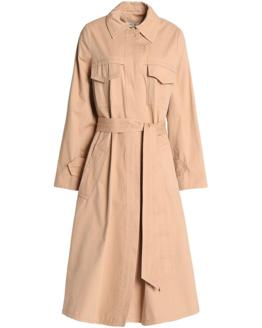 Ganni | Natural Cotton-twill Trench Coat | Lyst