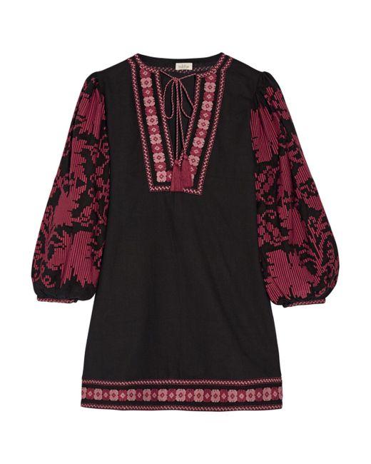 Talitha - Multicolor Salma Embroidered Cotton Mini Dress - Lyst