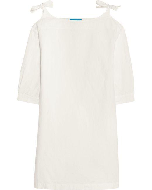 MiH Jeans - White Patou Crinkled Cotton-poplin Mini Dress - Lyst