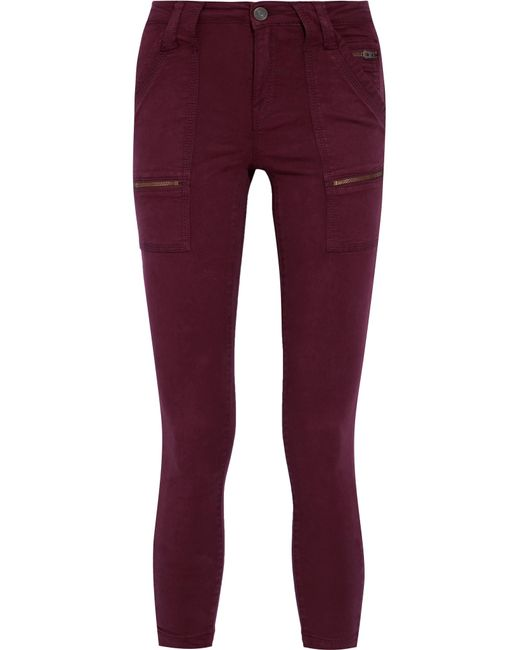 Joie | Red Park Cotton-blend Twill Skinny Pants | Lyst