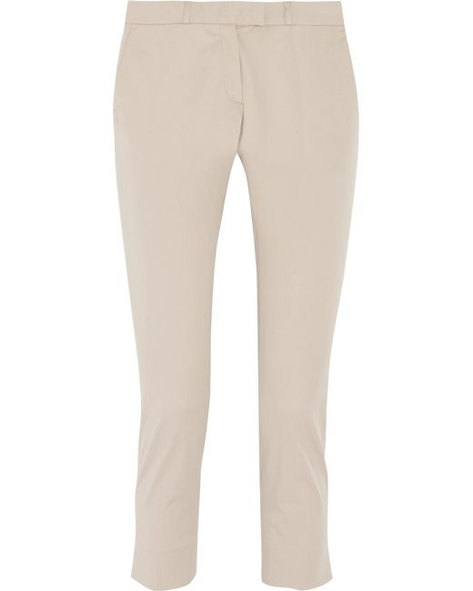 Joseph | Natural Big Court Cotton-blend Slim-leg Pants | Lyst