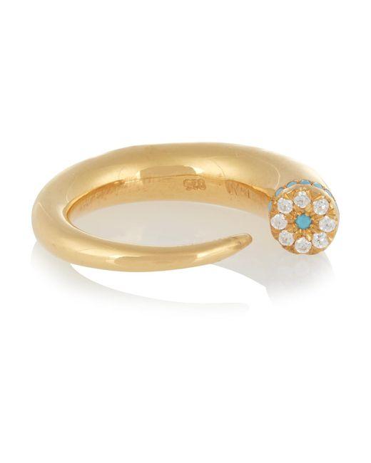 Ileana Makri | Metallic Thorn Eye Gold-plated Cubic Zirconia Ring | Lyst