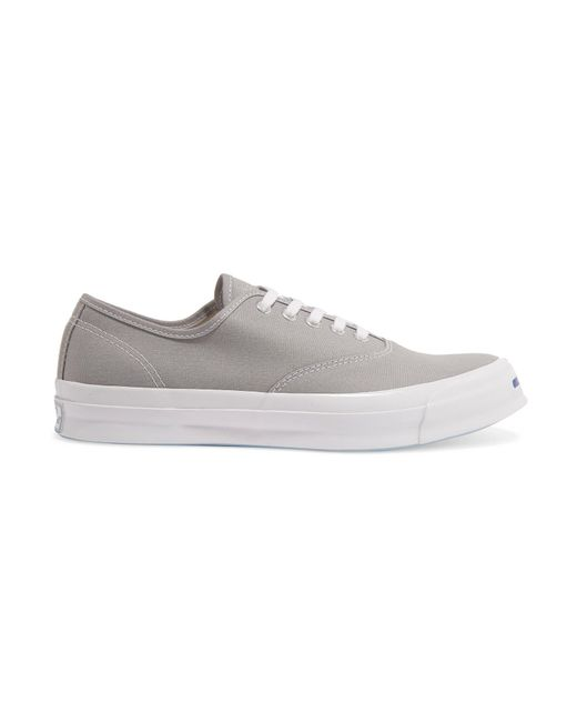 Converse | Gray Jack Purcell Signature Canvas Sneakers | Lyst