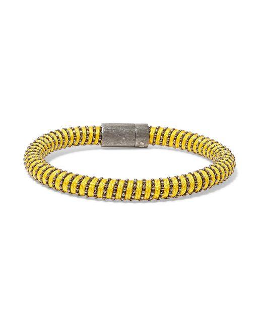 Carolina Bucci | Yellow Gunmetal-tone Woven Bracelet | Lyst