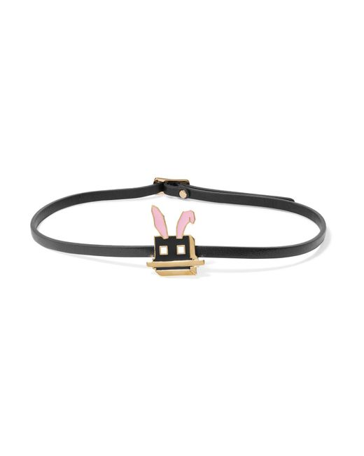 McQ Alexander McQueen | Multicolor Electro Bunny Textured-leather Wrap Bracelet | Lyst