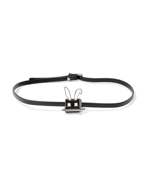 McQ Alexander McQueen | Black Electro Bunny Textured-leather Wrap Bracelet | Lyst