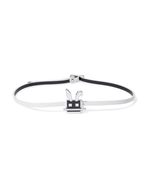McQ Alexander McQueen | White Electro Bunny Textured-leather Wrap Bracelet | Lyst