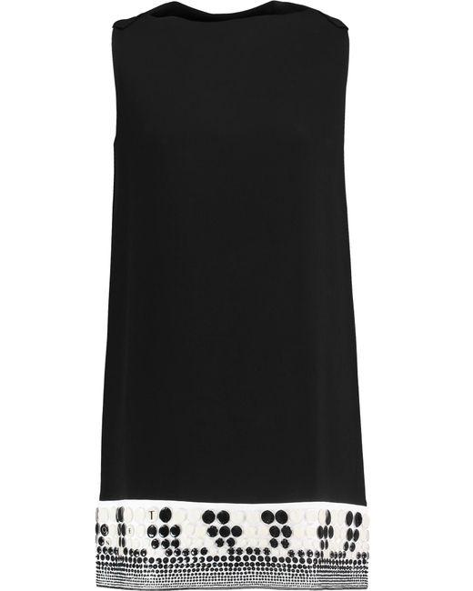 Vionnet | Black Embellished Crepe Top | Lyst