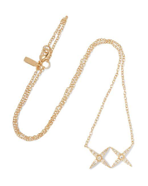 Elizabeth and James   Metallic Vida Gold-tone Crystal Necklace   Lyst
