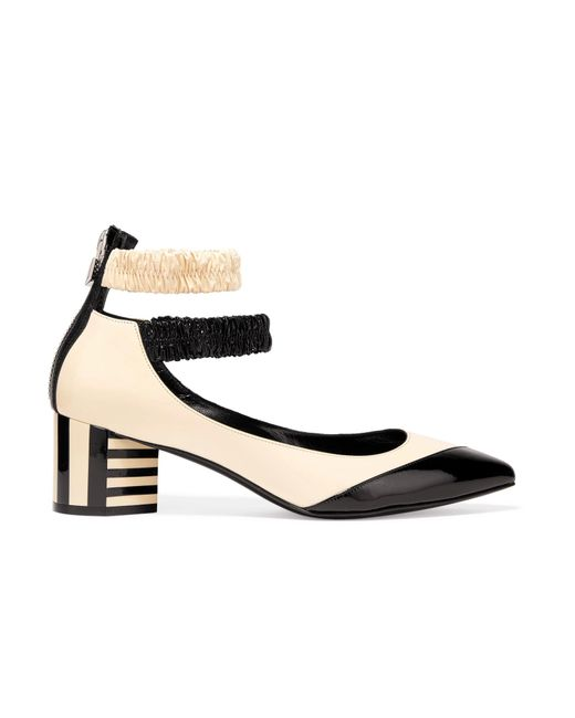 Pierre Hardy | White Siouxsie Two-tone Patent-leather Pumps | Lyst
