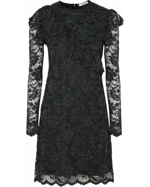 Ganni - Green Flynn Lace Mini Dress - Lyst