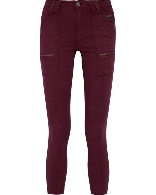 Joie - Red Park Cotton-blend Twill Skinny Pants - Lyst