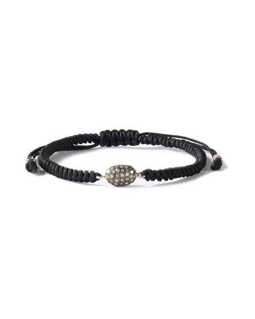 Chan Luu - Black Cord And Crystal Bracelet - Lyst