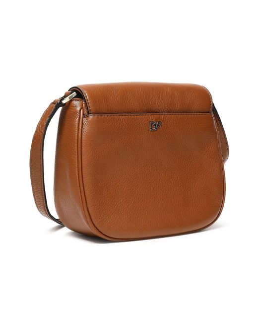 ca41a0b0d7005 Lyst - Diane von Furstenberg Brown Leather Handbag in Brown - Save 33%