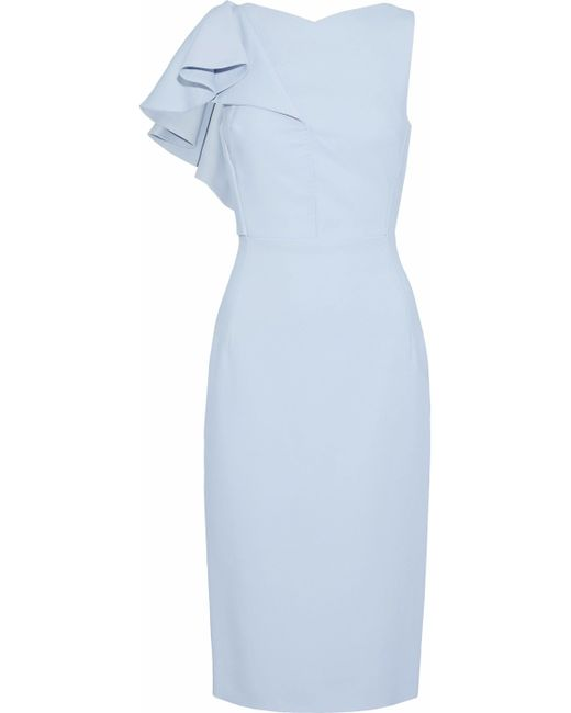 Antonio Berardi - Blue Ruffled Cady Dress - Lyst