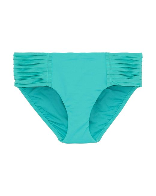 Seafolly - Blue Woman Retro Pleated Mid-rise Bikini Briefs Turquoise - Lyst