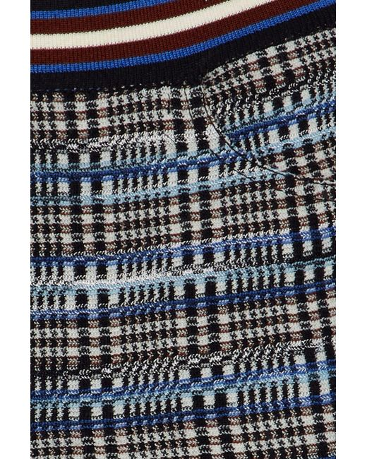 5ba817cfe3d Lyst - Missoni Woman Checked Wool-blend Bootcut Pants Blue in Blue