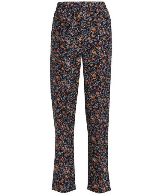 Isabel Marant - Multicolor Printed Silk Straight-leg Pants - Lyst