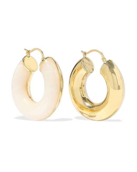 Noir Jewelry - Metallic Arc Beam 14-karat Gold-plated Resin Hoop Earrings - Lyst