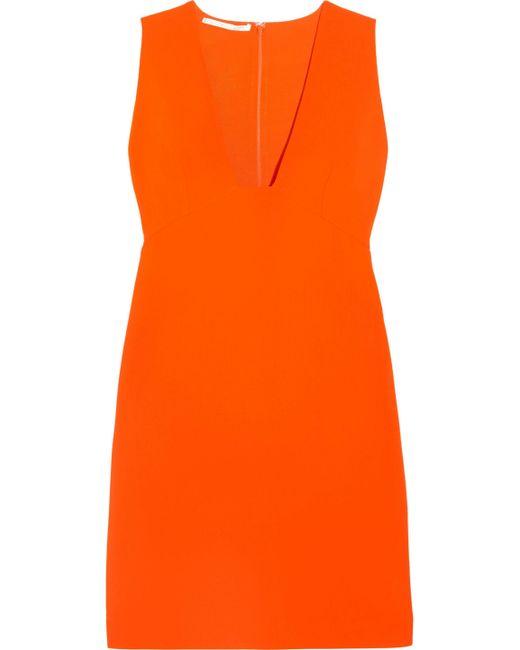 Stella McCartney   Orange Stretch-cady Mini Dress   Lyst