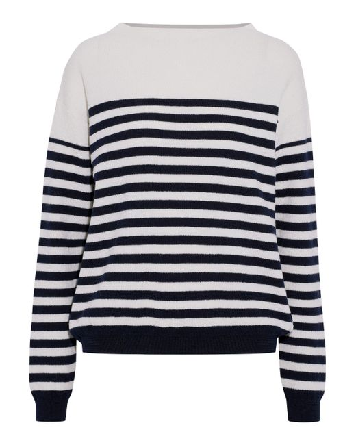 MiH Jeans - White Margot Striped Merino Wool Sweater - Lyst