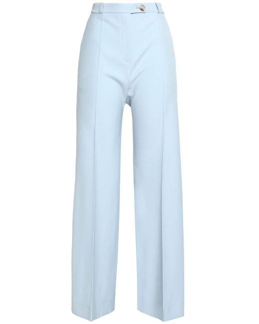 AlexaChung - Woman Wool-twill Bootcut Pants Sky Blue - Lyst