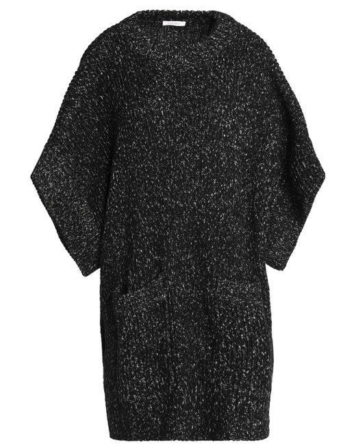 See By Chloé - Black Oversized Marled Bouclé-knit Sweater - Lyst
